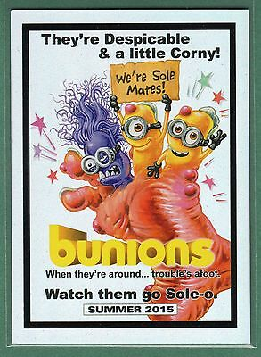 2015 Wacky Packages #NNO Bunions Foil Card