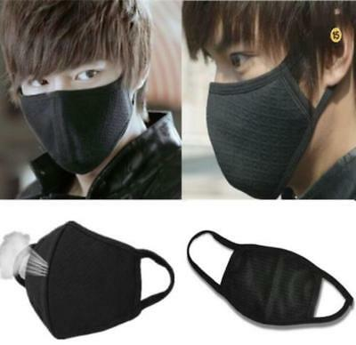 2Pcs Black Men Women Health Cycling Anti-Dust Cotton Mouth Face Respirator Mask