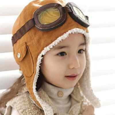 Children Baby Kids Toddler Pilot Aviator Winter Warm Cap Ear Flap Soft Hat ZXX