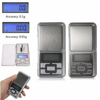 0.01g-500g Pocket Digital Scales Jewellery Gold Weighing Mini LCD Electronic