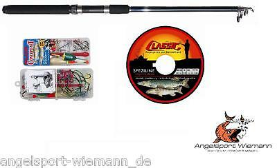 100 PCS PREDATOR FISH SET WITH FLOATS Eddy Steel Compartment +hechtrute+