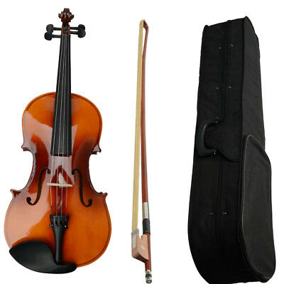 """Basswood Student Brown Acoustic Viola Size 16"""" Adults with Case Bow,Rosin UK"""
