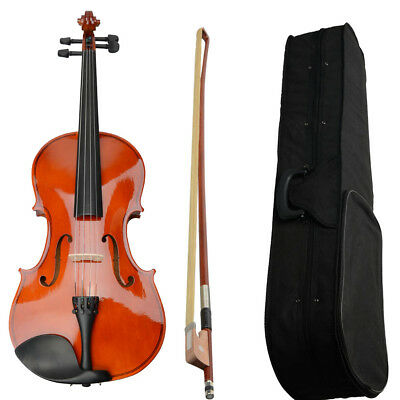 """Basswood Student Nature Acoustic Viola Size 16"""" Adults with Case Bow,Rosin UK"""