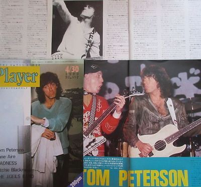 Tom Petersson Cheap Trick Rick Nielsen 1980 Clipping Japan Magazine Y5 30F9 6P