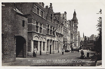 Exposition Internationale 1930 Rue des Métiers ANVERS Belgique Carte Photo RPPC