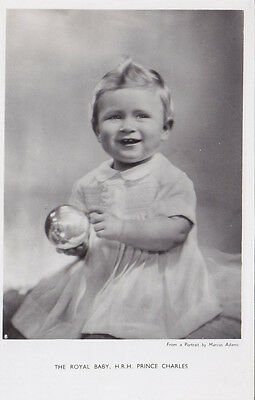 Royal Baby PRINCE CHARLES 1950 Tuck's Real Photo Postcard Photo by Marcus Adams