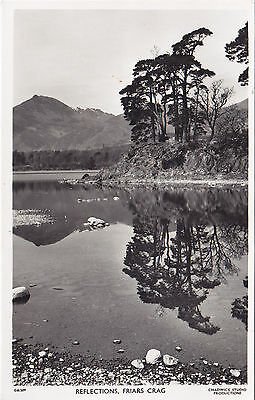 Reflections FRIARS CRAG Cumbria England Chadwick Studios Real Photo Postcard