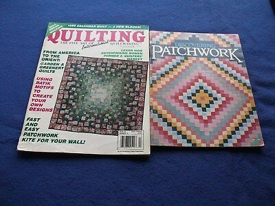 2 Patchwork & Quilting Booklets - Instructions & Items To Make
