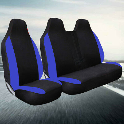NISSAN Pair of RACING BLUE Seat Covers Serena Skyline Terrano Vanette X-Trail
