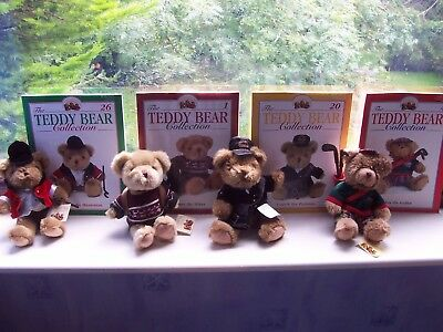 The Teddy Bear Collection  - 4 Collectable Bears At A Bargain Price, Post Free