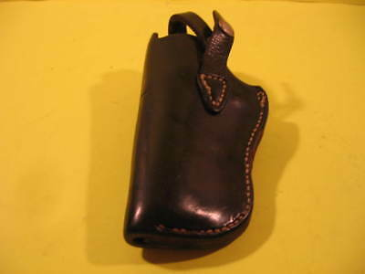 Small Left Hand Gun Holster - Leather - Black - Stamped On Side Is Bo4, 34 & Lh