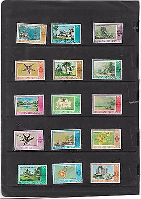 Trinidad And Tobago 1976 Paintings,hotels,& Orchids Set Sg.479-495 Mnh