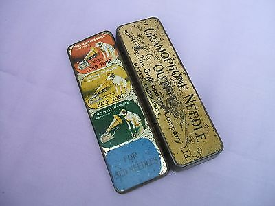 "Old ""His Master's Voice"" Gramophone Needle Outfit Tin + Contents Hayes Middx"