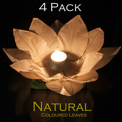 Natural Chinese Garden Or Water/pond Lantern 4-Pack