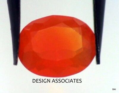 MEXICAN FIRE OPAL 9 x 7 MM CUSHION CUT ALL NATURAL BEAUTIFUL COLOR