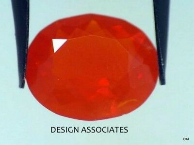 MEXICAN FIRE OPAL 11 x 9 MM OVAL CUT ALL NATURAL BEAUTIFUL COLOR