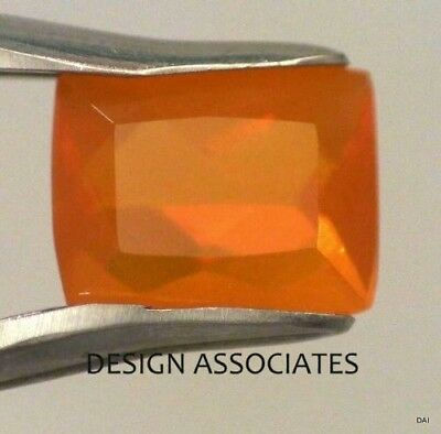MEXICAN FIRE OPAL 11.35 x 9.28 MM CUSHION CUT ALL NATURAL BEAUTIFUL COLOR