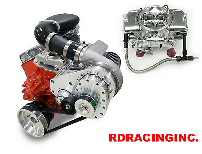 Torqstorm Supercharger System Small Block Chevy Arp-K-Gmsbc-Ds-Lwp W Demon Carb