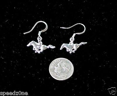 Ford Mustang Sterling Silver Wire Dangle Earrings Sold Exclusively Here