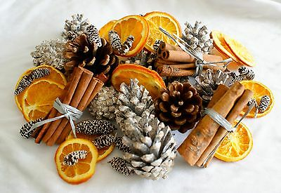 Pine cones Cinnamon & Orange  Luxury Potpourri-Winter Warm fragrance potpourri