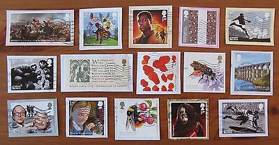 GB Used Stamps COMMEMORATIVES 2015 ISSUES All Different Modern Rare Kiloware (b)