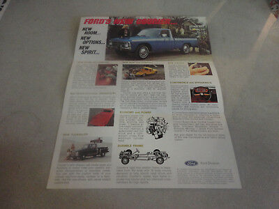 1976 FORD's New Courier Truck Advertisement with Standard Features