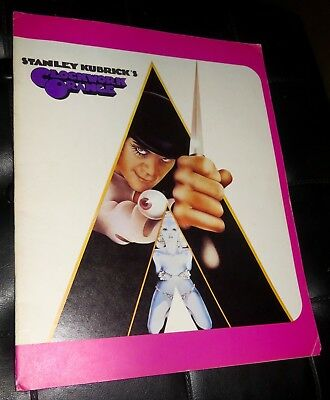 A CLOCKWORK ORANGE Movie Press Book Program Stanley Kubrick Original Rare Item