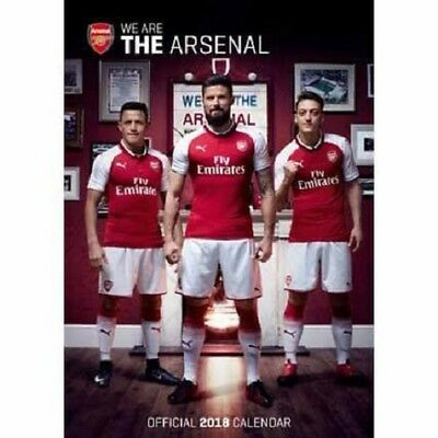2018 A3 Official Arsenal Fc Calendar, Football Wall Calender