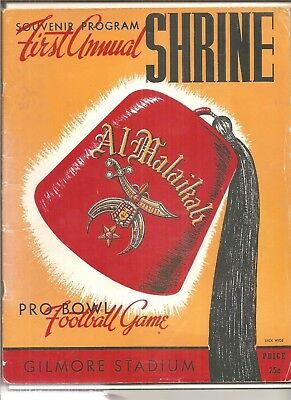 1944 First Shrine Bowl pro bowl program Hollywood Rangers, Jackie Robinson ++