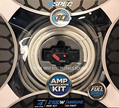 NEW T-Spec V10-2041 Power Sports and Marine 4 AWG Amp Wiring Kit