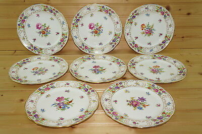 "Hammersley Dresden Sprays (8) Pie or Dessert Plates, 7 1/4"" RARE"