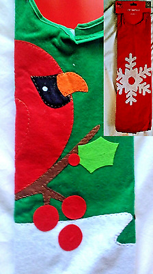Cardinal or Snowflake Christmas Tree Skirt New Felt 40 inches New