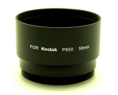 58mm Black Metal Lens Adapter Ring Tube For Kodak EasyShare P850 Digital Camera