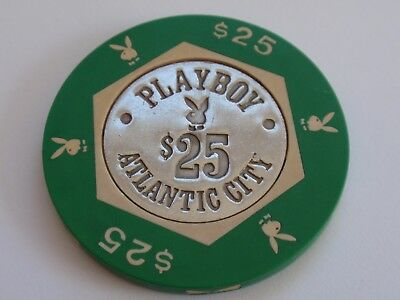 PLAYBOY Casino - $25 CHIP - Atlantic City, New Jersey / Bunnies / Coin Center