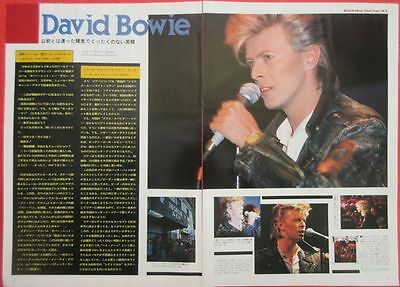 David Bowie 1987 Clipping Japan Magazine Ff No11 2Page