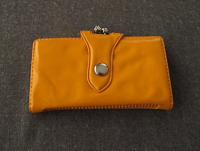 Vintage 70's Orange Vinyl Wallet  Unused