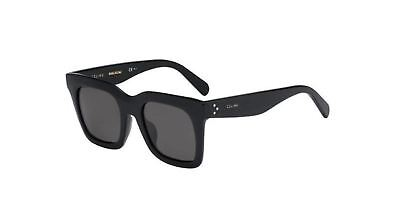 New Celine Luca CL 41411 F/S 807/NR Black/Smoke Sunglasses