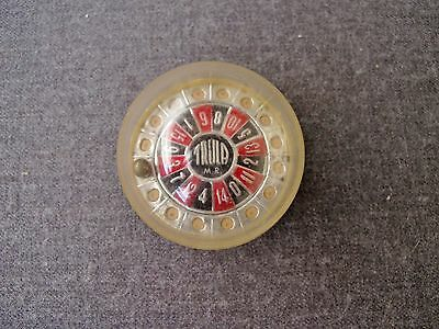 Vintage Trula 0 To 15 Plastic Miniature Roulette Game