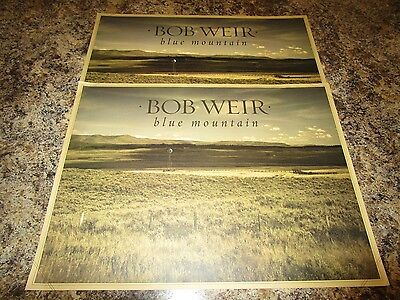 BOB WEIR  BLUE MOUNTAIN  LOT OF 2   PROMO CD Store POSTER  P851