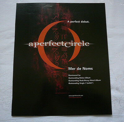 A Perfect Circle Large Trade Magazine Display Ad 2001