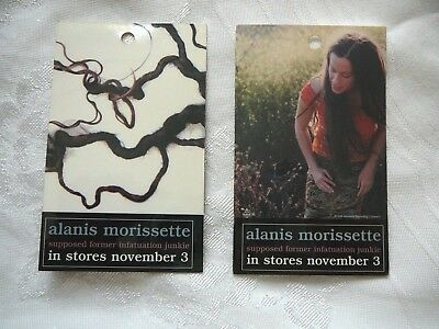 ALANIS MORISSETTE Supposed Former Infaturation Junkie CD STORE PASSES