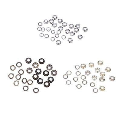 DIY 100Pc Metal Eyelets Grommet Scrapbook Stamping Leather Craft 4mm 5mm 6mm 8mm