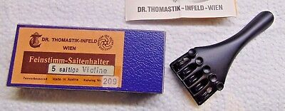 "NOS, Antique Violin String Tailpiece, Otto Infeld, Tomastik Wien 4"" long"