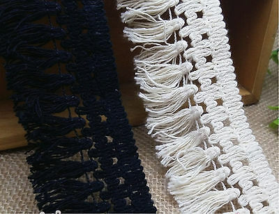 "High Quality 1.8""  COTTON TASSEL FRINGE TRIM 1/10yd you choose"