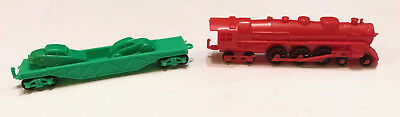 R&l Cereal Toys 1964~ Model Train Set X 2 + Cars, Lot B ~Vintage Aussie Kelloggs