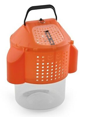 South Bend SBCBBKT Orange Collapsible Bait Bucket w/ Handle
