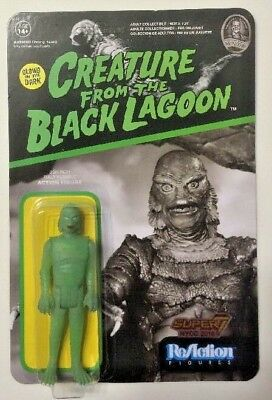 """Funko Reaction Super7 Glow Creature From Black Lagoon 3.75"""" Action Figure NYCC"""