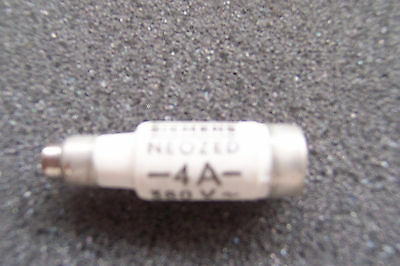 Siemens-Neozed-Ceramic Bottle Fuses-380V-4 Amp-5 Off.