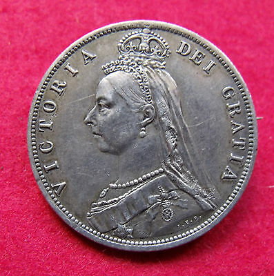 1887 Silver Jubilee Half Crown Brooch mounted for wear British coin