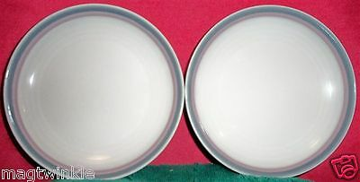 Pfaltzgraff AURA Double Bands line 2 Bread+Butter Side Plates U.S.A. #EE-1076-AB